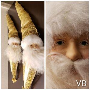 Santa Clause Porcelain Face Christmas Decor Set